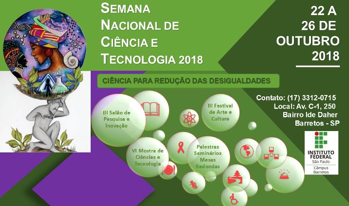 Semana Nacional de Ciência e Tecnologia 2018