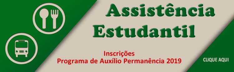 Política de Assistência Estudantil - Novas Inscrições para o 1º semestre de 2019