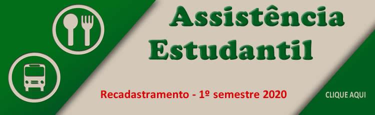 Política de Assistência Estudantil - Recadastramento - 1º semestre de 2020
