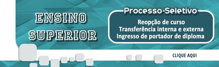Cursos Superiores - Edital de transferência externa e interna