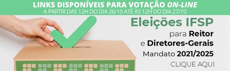 Eleições 2020 - Links para votação 2º Turno