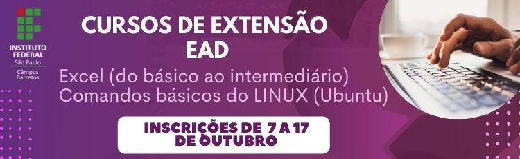 Cursos de Extensão - Excel e Linux